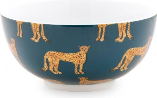 Fabienne Chapot Cheetah Print bowl,15 cm, Teal