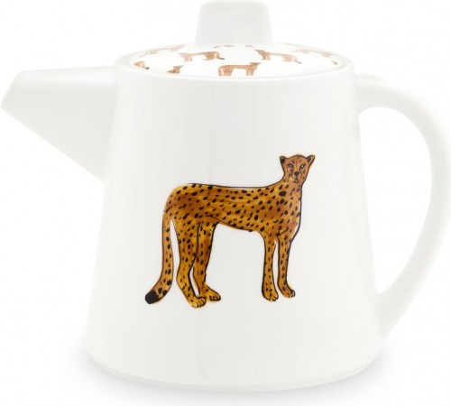 Fabienne Chapot Cheetah Tea Pot, 450 ml, white/multi
