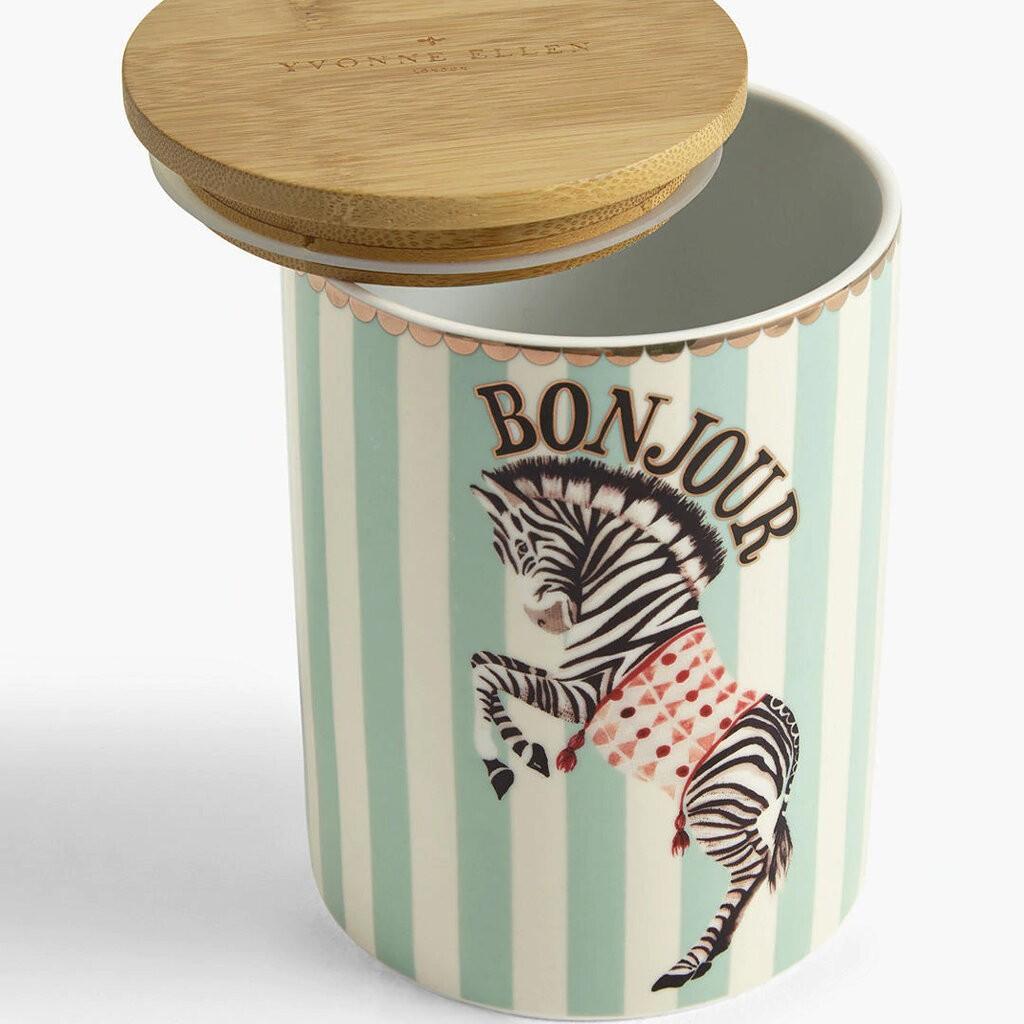 Zebra Storage Jar