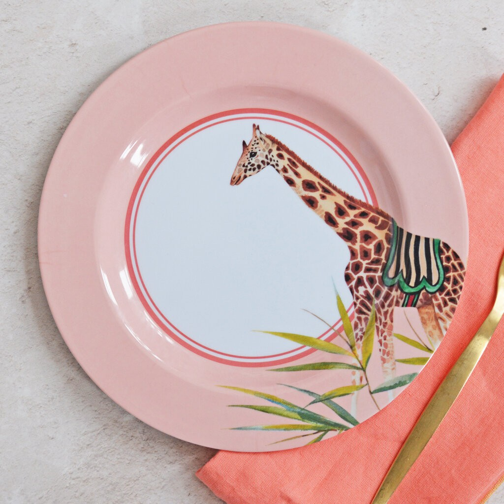 Safari Picnic Side Plates, set of 4