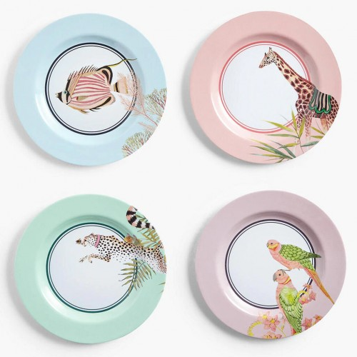 Safari Picnic Dinner Plates, set of 4