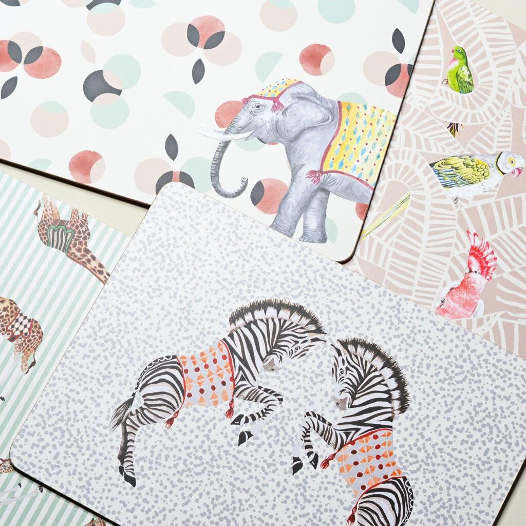 Safari Placemats, set of 4