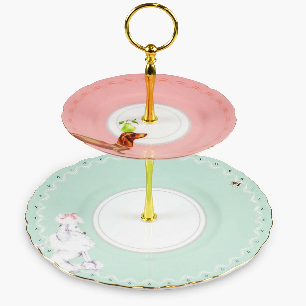 Puppies 2 Tier Cake Stand