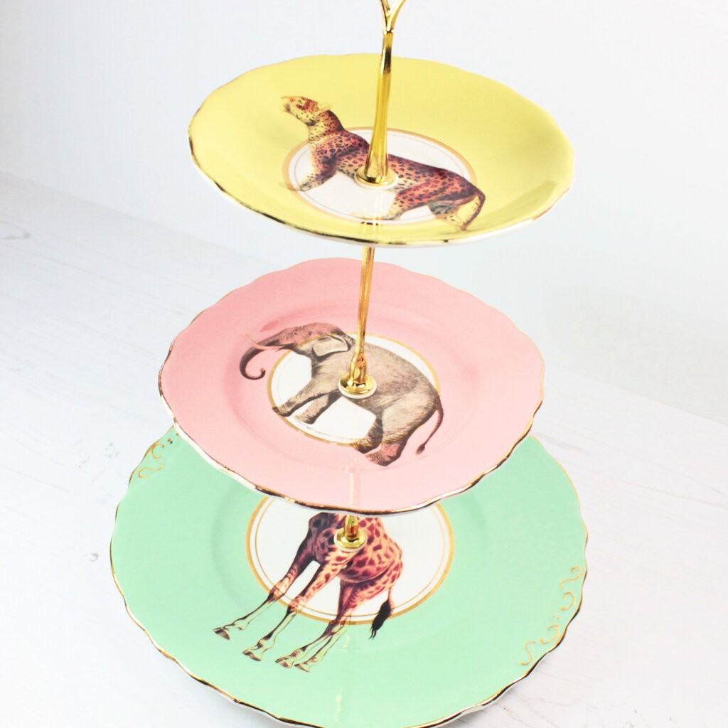 Safari Animals Cake Stand