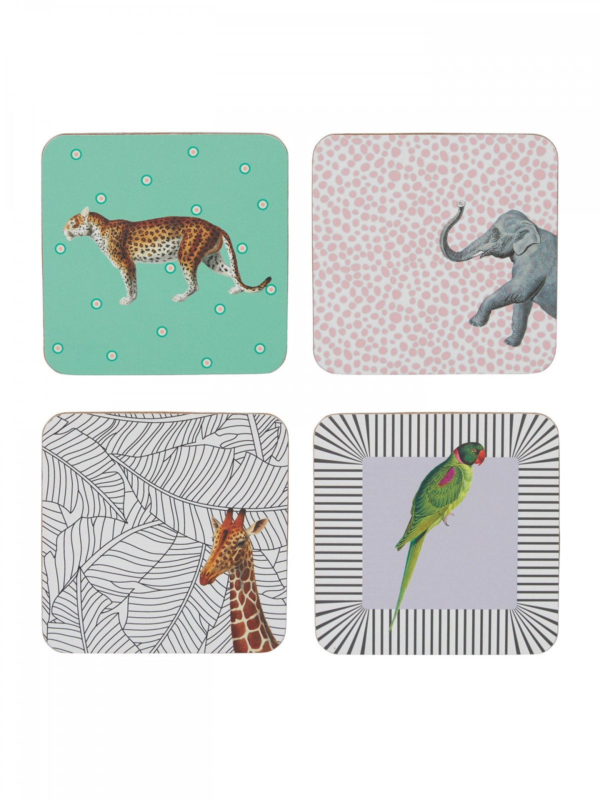 Animal Coasters, set of 4
