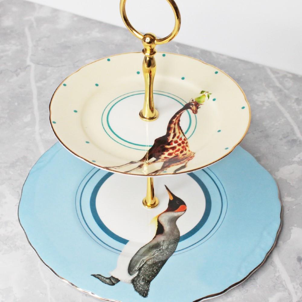 Giraffe- Penguin Cake Stand