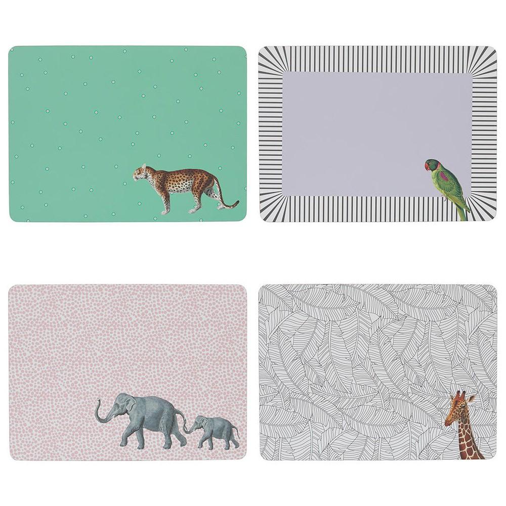 Animal Placemats, set of 4