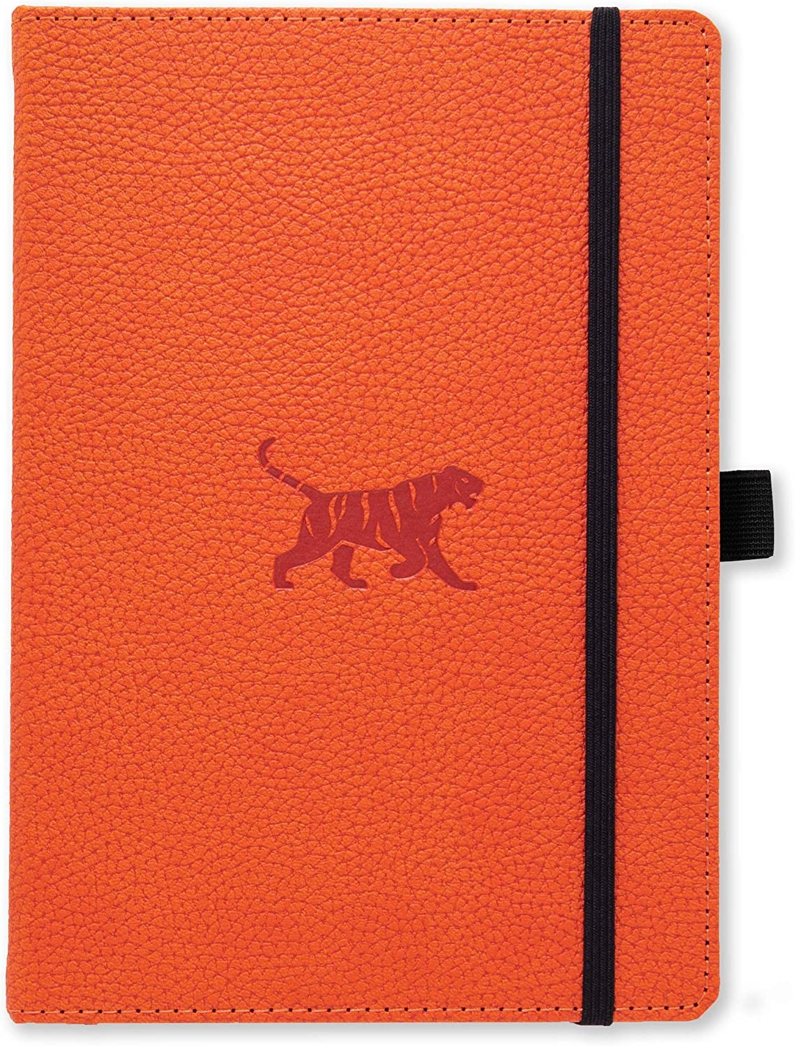 A6 Wildlife Orange Tiger Notebook (Lined)