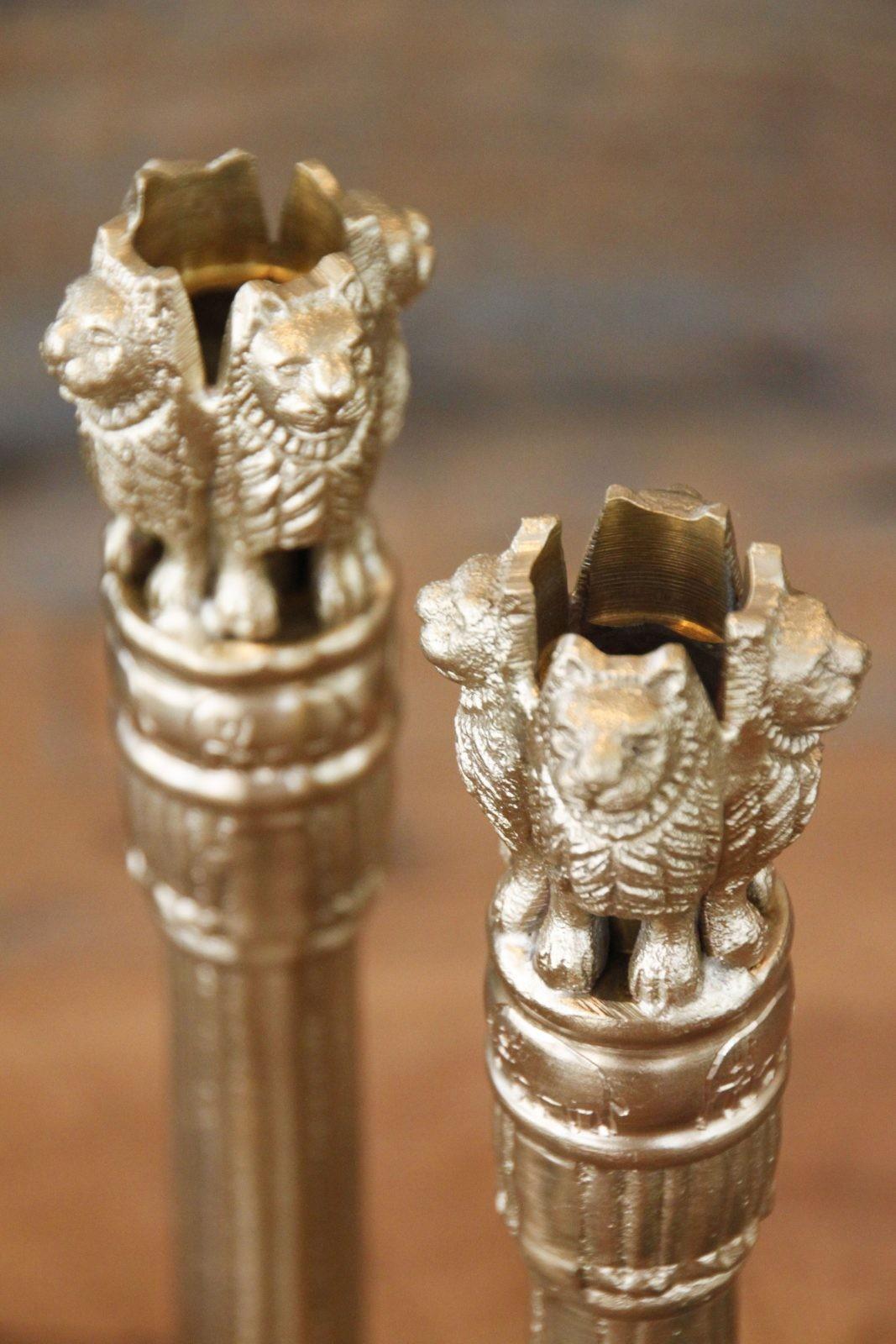 DOING  GOODS-Lion Candle Holder, set of 3