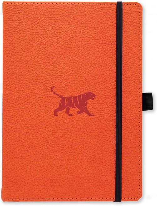 A5 Wildlife Orange Tiger Notebook (Dotted)