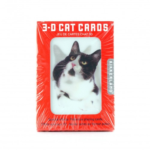 Cat Playing Cards 3D