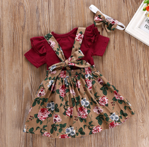 Baby Retro Floral Dress