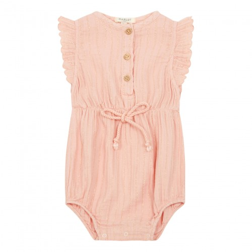 Pink Cotton Romper