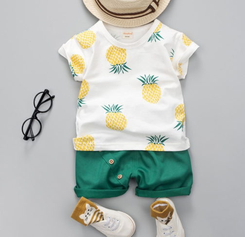 Pineapple Baby Boy Set