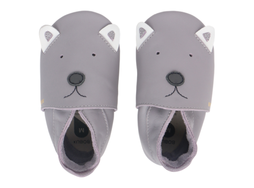 Gray Teddy Slippers