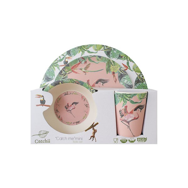 Bamboo Flamingo Set