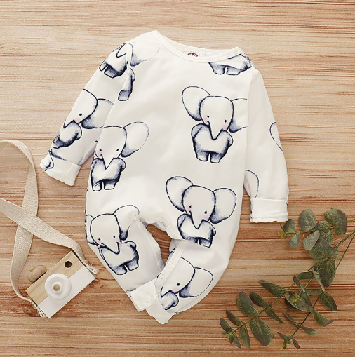 Baby Boy Elephant Jumpsuit