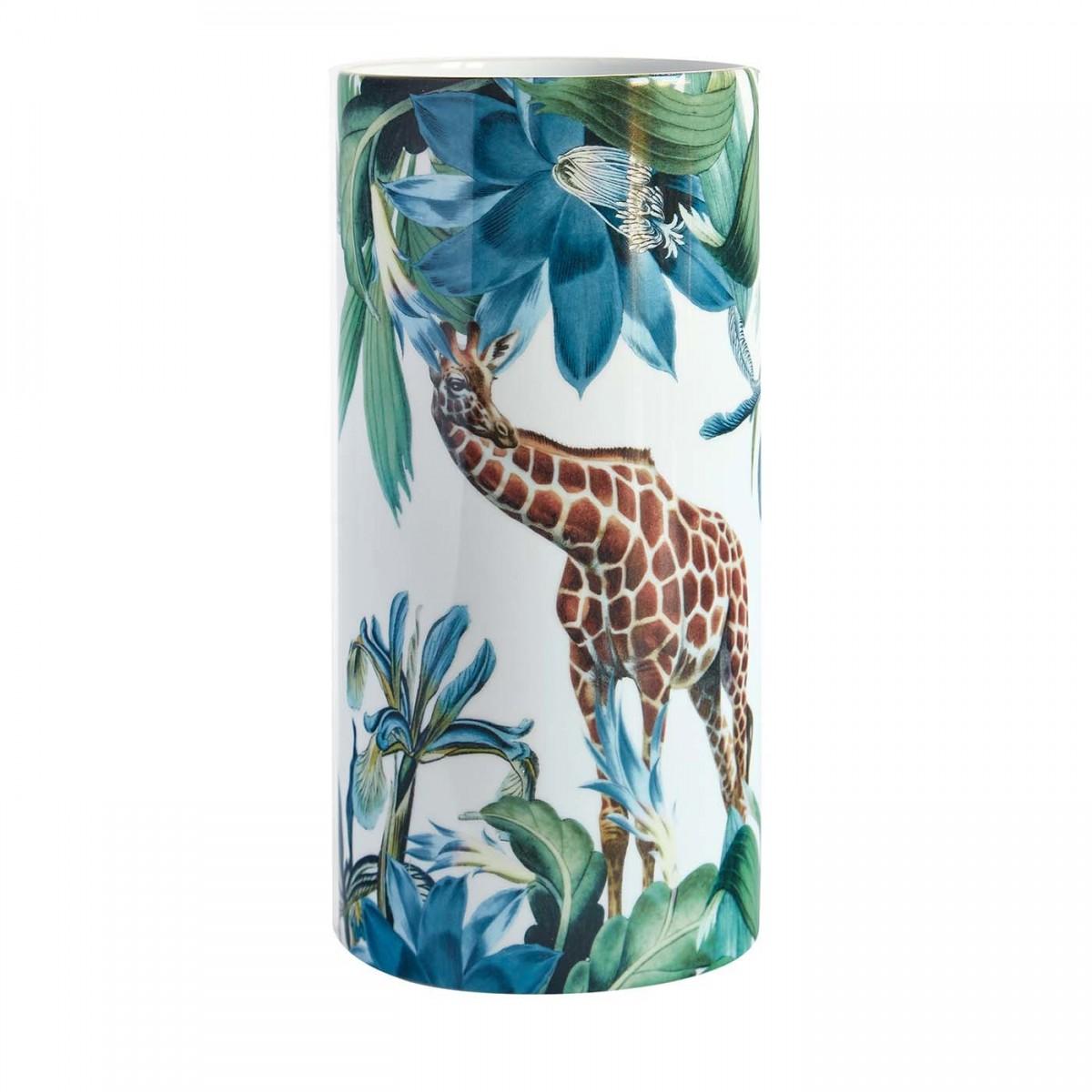 Animal Themed Porcelain Vase