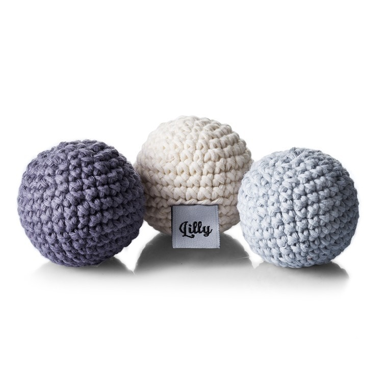 Set of 3 Crochet Balls