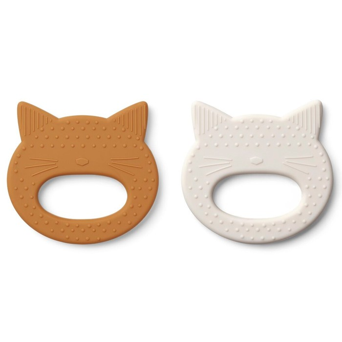 Set of 2 Cat Teething Rings