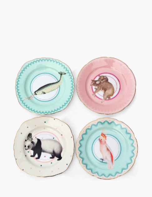 Animal Designed Tea Plates