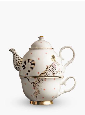 Cheetah Tea-For-One Teapot