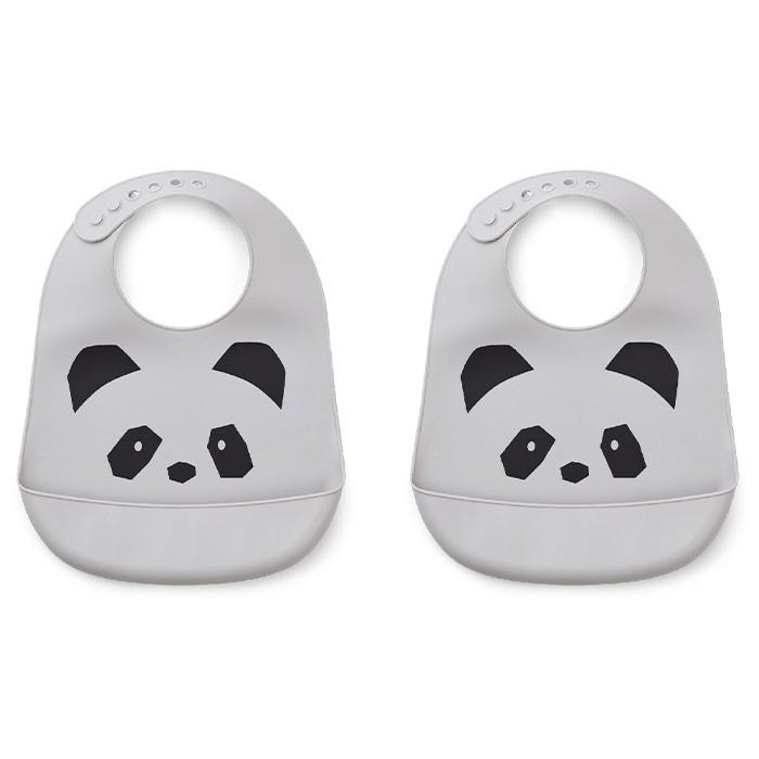 Panda Silicone Bib