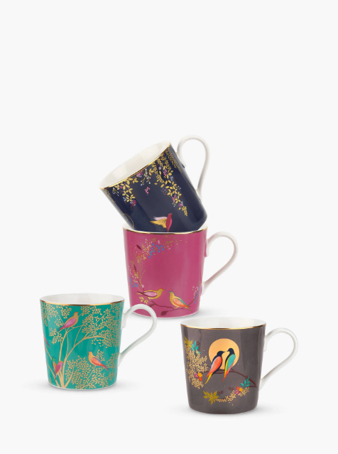 Bird Designed Tea Mugs