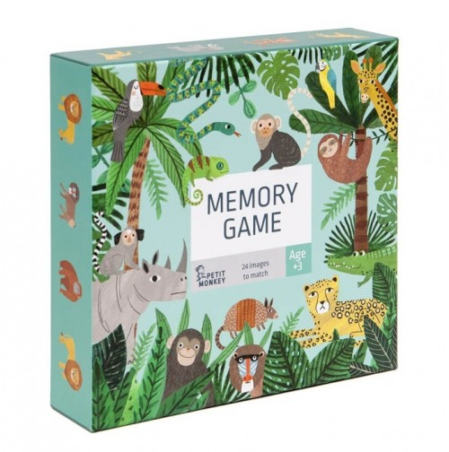 Memory Game Jungle Animals