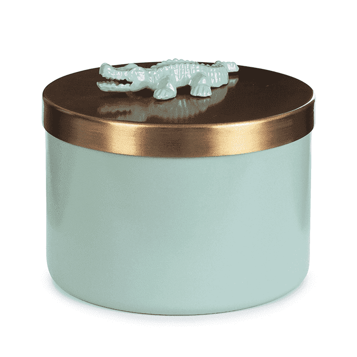 Storage Box Crocodile Sea Green-gold