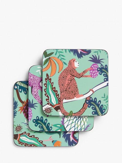 Set o 6 Monkey Coasters