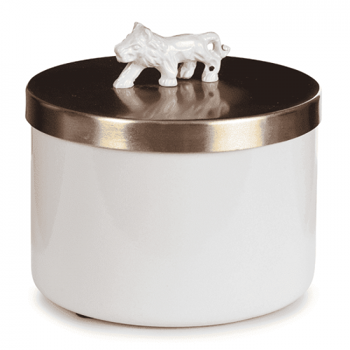 Storage Box Lion White-gold
