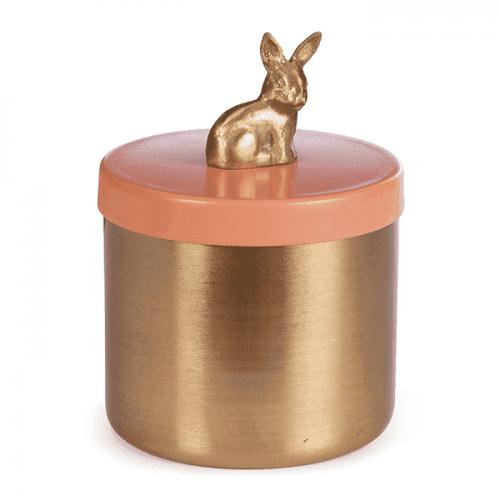 Storage Box Rabbit Pink-gold