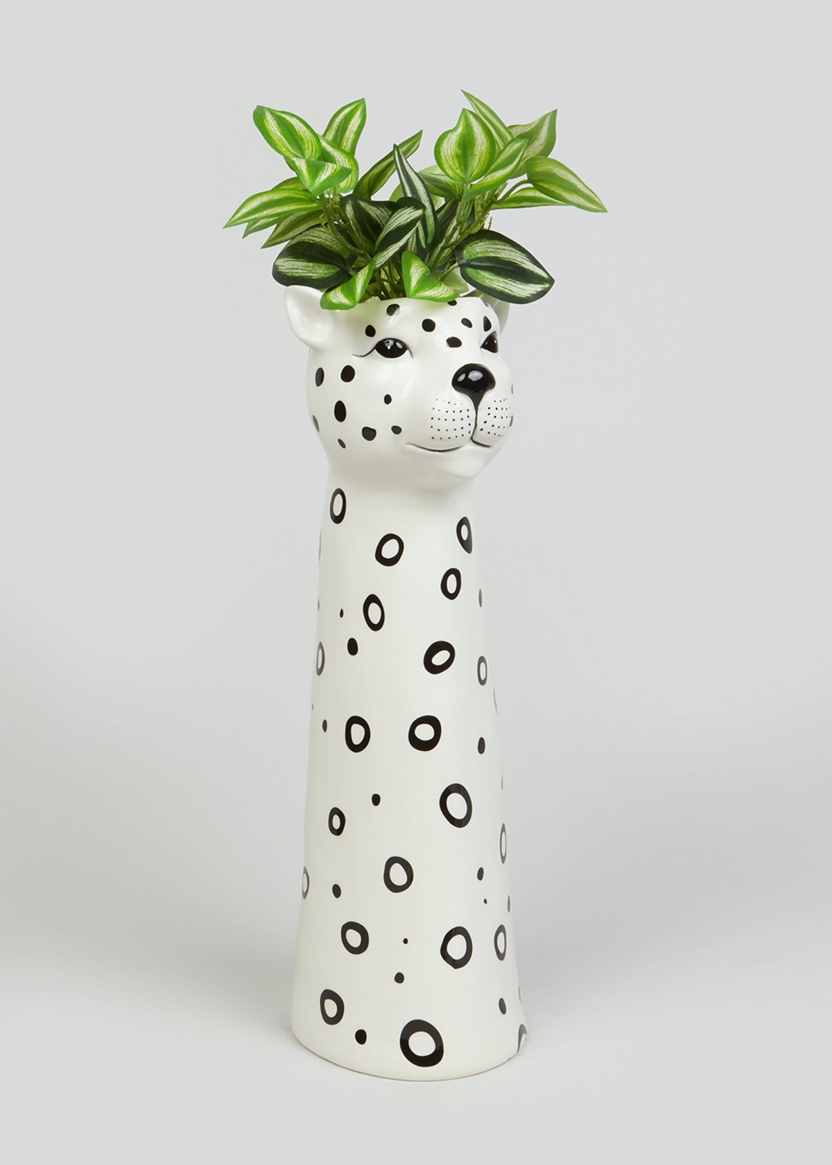Ceramic Leopard Planter