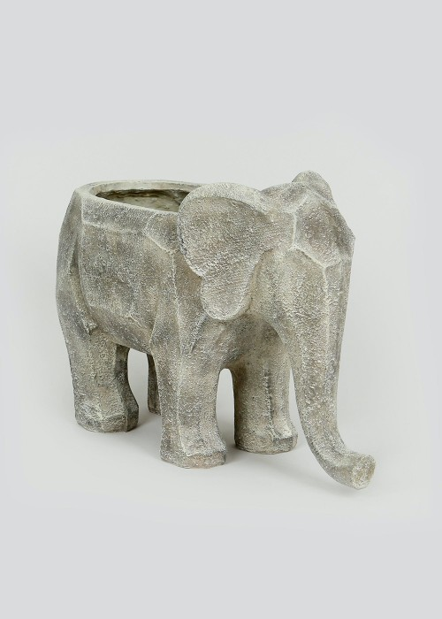 Outdoor Elephant-Shaped Planter