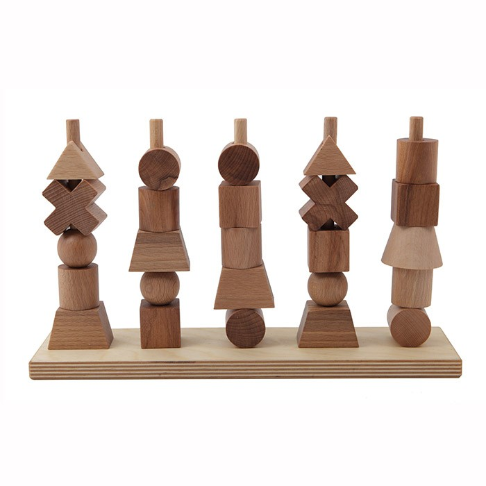 Natural Wooden Stacking Figures