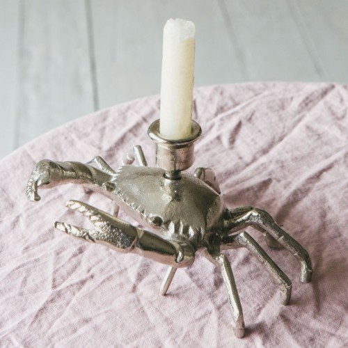 "Aluminum Candle Holder ""Crab"""