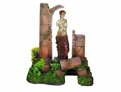 Gods and Antique Column Aquarium Decor