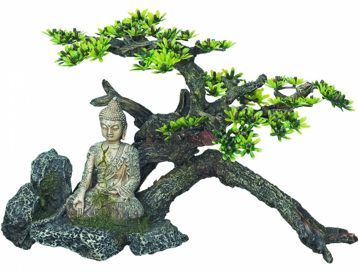 Buddha Aquarium Decoration with Plants