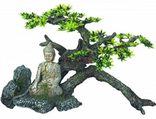 Buddha Aquarium Decoration with Plants