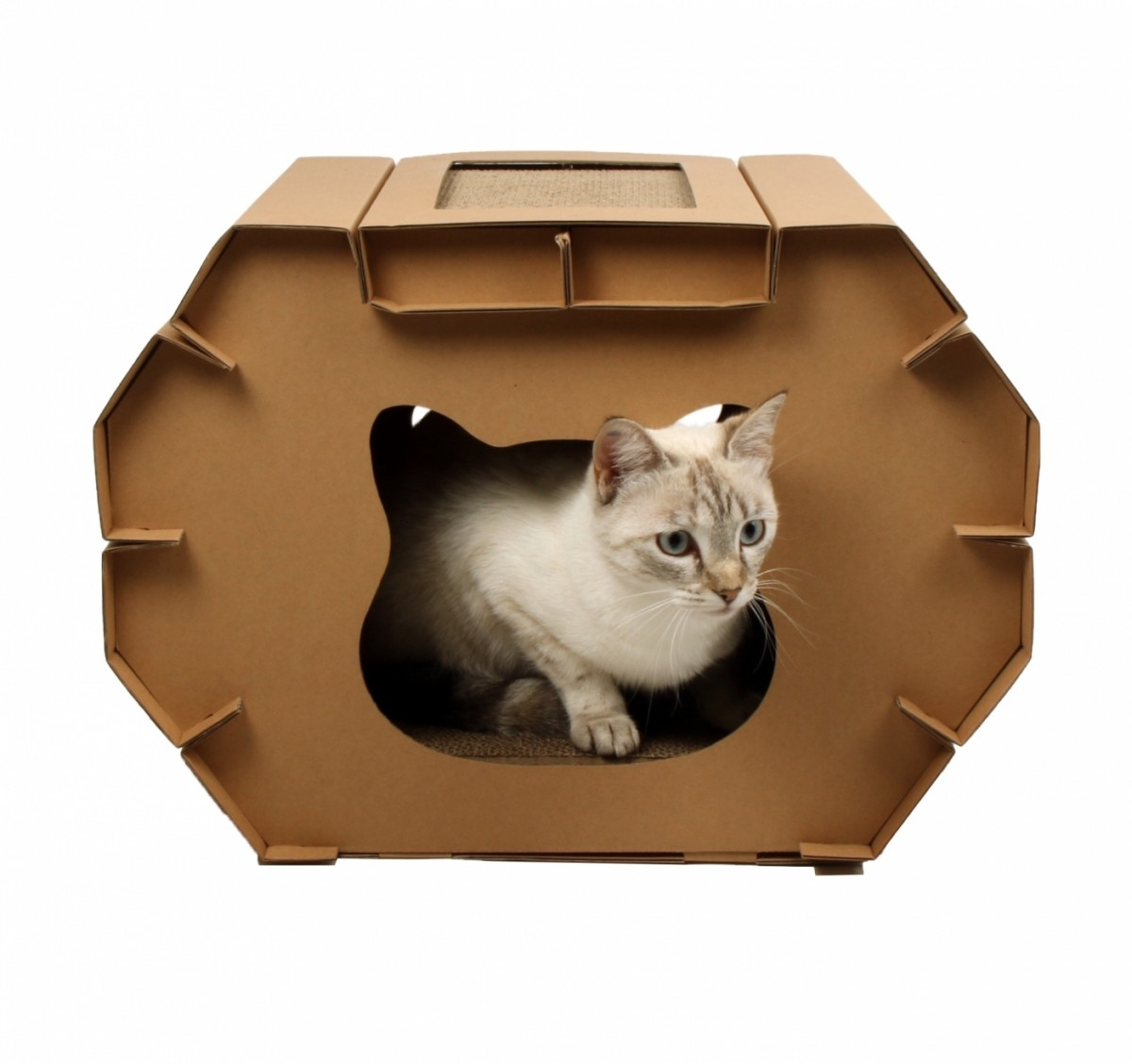 Cardboard Scratching House Post