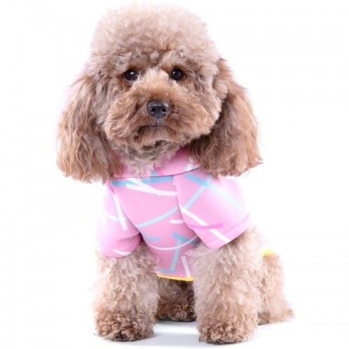 Hooded Sweater for Dogs Neoprene Pink