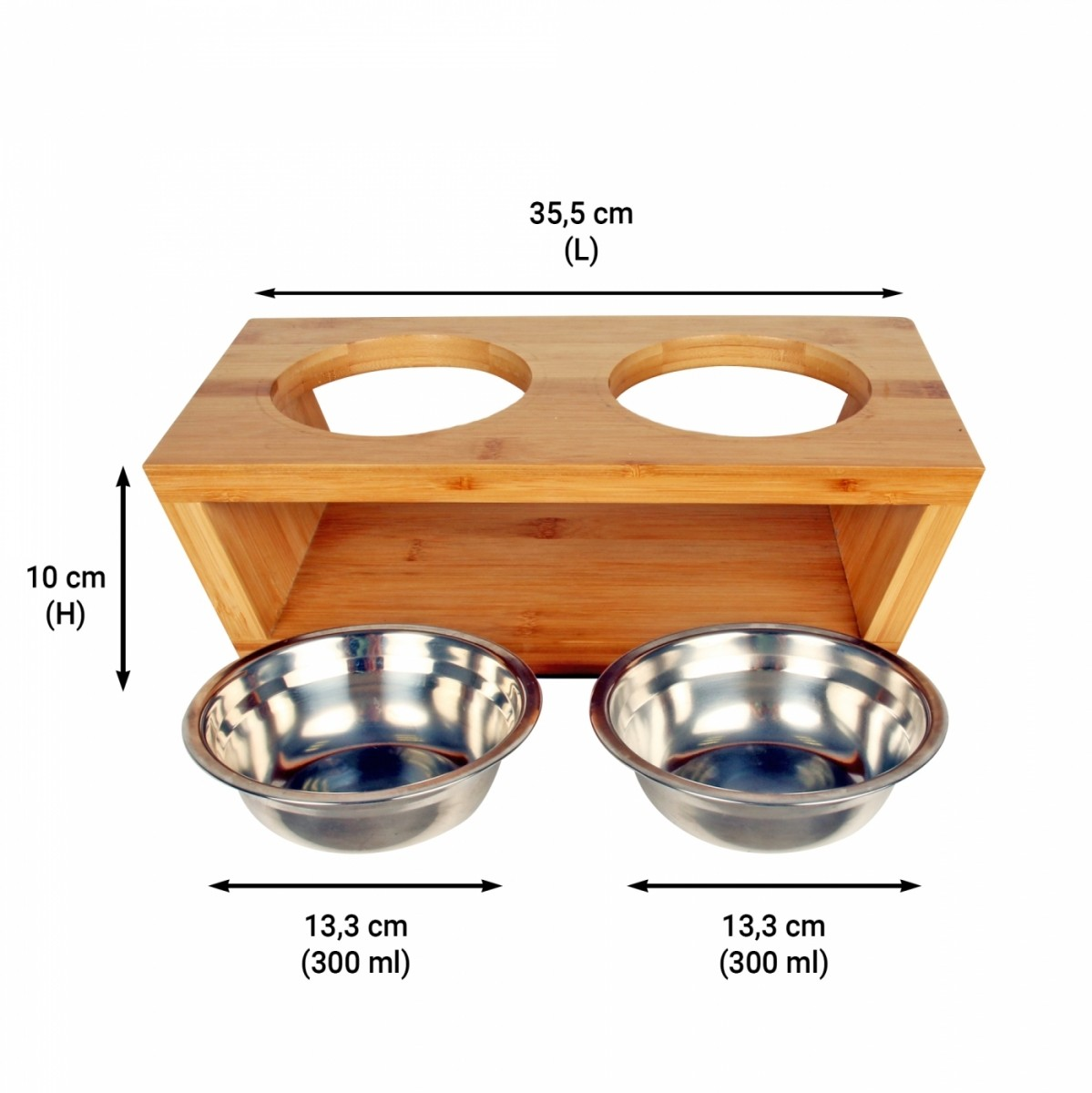 Wooden Bamboo Supportset ofBowls