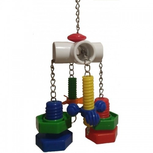 Sturdy Toy with Screws for Medium and Large Parrots