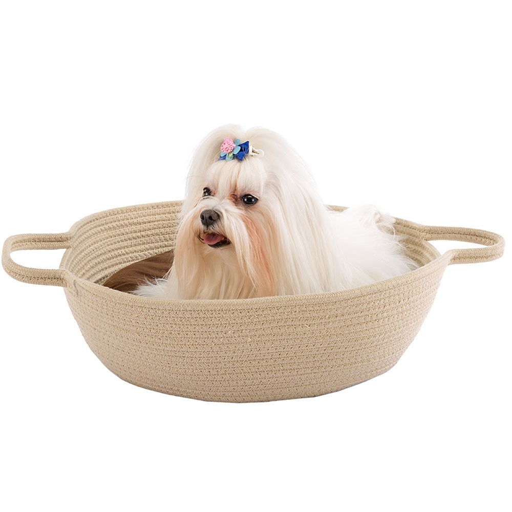 Cotton Rope Basket with Double-sided Cushion