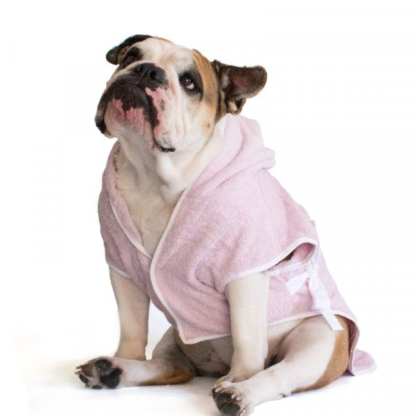 Bulldog Pink Bathrobe
