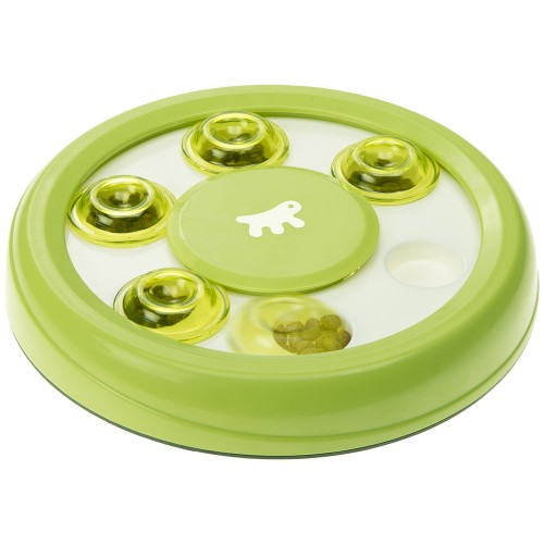 Interactive Cat Toy with Treat Caches