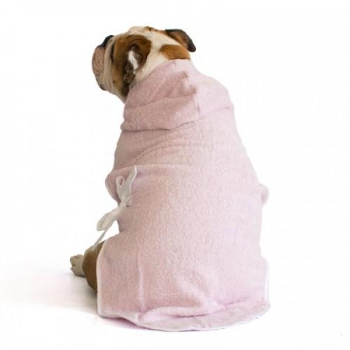 Bulldog Pink Bathrobe