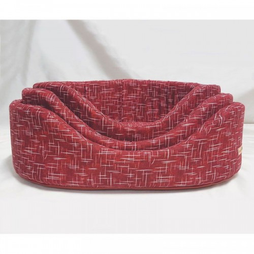 Red Oval Basket for Dogs