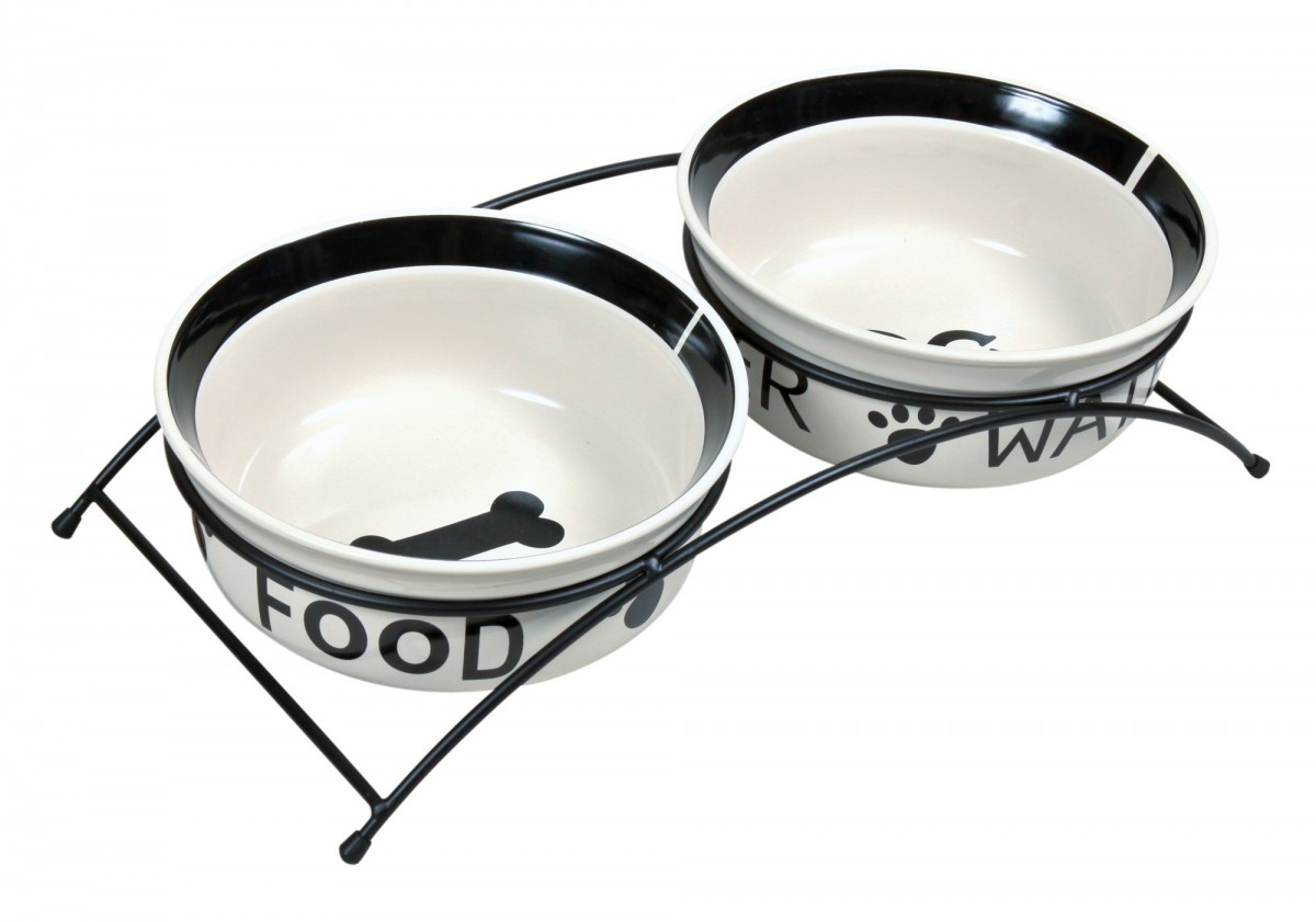 Ceramic Food Bowl with Holder